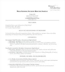 exle student resumes high school scholarship resume