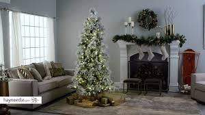 lightly flocked christmas tree lightly flocked snowbell pine pre lit full christmas tree product