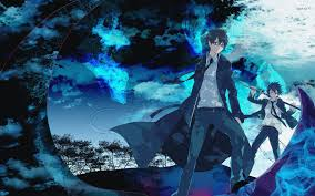 halloween anime backgrounds blue exorcist wallpaper on wallpaperget com
