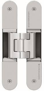 tectus hidden door hinges available in satin chrome satin nickel