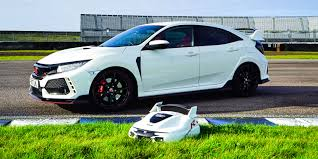 honda civic type r 2018 honda civic type r inspires autonomous lawnmower u2026 and now we want one