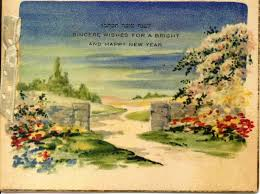 rosh hashanah greeting card from the early 20th century american