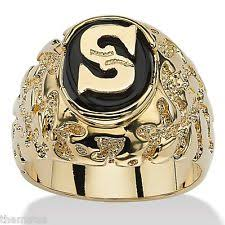 men gold ring mens onyx ring ebay