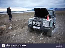 land rover iceland a broken down land rover caught fire in the interior highlands of