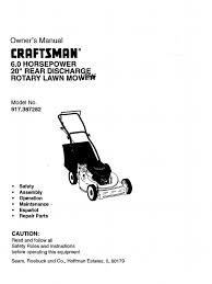 craftsman 917 387282 manual 98120007 lawn mower mower