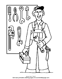 Working With Tools Free Coloring Pages For Kids Printable Tools Coloring Page