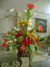 silk floral arrangement floral decor tropical flowers center