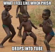 Phish Memes - what i feel like when phish drops into tube dancing black kids