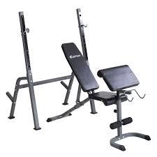 amazon com goplus adjustable weight lifting bench rack set