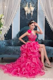 quinceanera pink dresses high low hot pink colorful quinceanera dress 1st dress