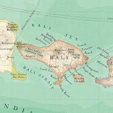 Map Of Bali Bali Map Print Notebook By Bombus Off The Peg Notonthehighstreet Com