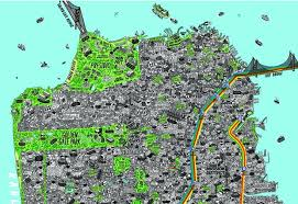 san francisco map detailed an insanely detailed map of san francisco citi io