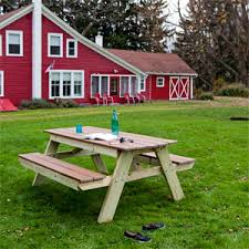 Plans For Picnic Table With Attached Benches by Picnic Table Plans How To Build A Picnic Table