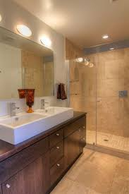 S And W Cabinets Modern 3 4 Bathroom With Vessel Sink U0026 European Cabinets In