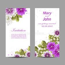 marriage invitation card design set of wedding invitation cards design stock vector