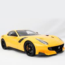 Ferrari F12 Yellow - f12 tdf 2015 amalgam 1 8 scale model car
