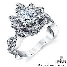 large engagement rings the large lotus swan 1 48 ct diamond engagement flower ring