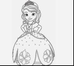 marvelous beautiful disney princesses sofia coloring colour