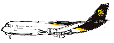 a sketch of a real ups plane i guess by windytheplaneh on deviantart