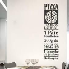 stickers recette cuisine noir cuisine recette pizza jambon stickers muraux décoration de la