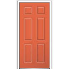 6 panel fiberglass doors front doors the home depot