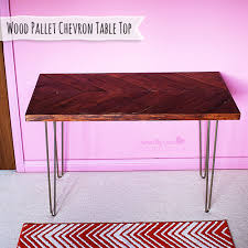 How To Make A Table Out Of Pallets How To Make A Chevron Table From Reclaimed Wood Pallet