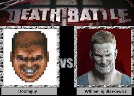 Doom Guy Meme - death battle doomguy vs william bj blazkowicz by td cer on deviantart