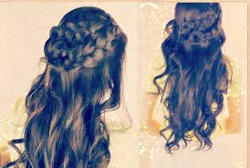 cute curly hairstyles braided half up updos for with