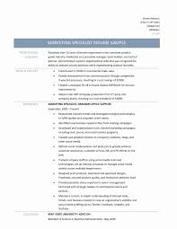 cover letter marketing specialist sample resume resume sample