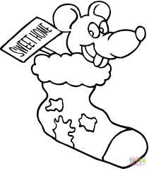 christmas mouse coloring page free printable coloring pages