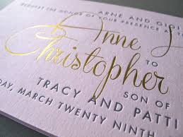wedding invitations gold foil pink and foil wedding invitation printers