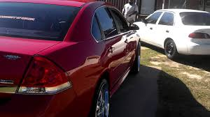 Picture Of Chevy Impala 2010 Chevy Impala Lt Wet Bright Red On U002722 Rims Youtube
