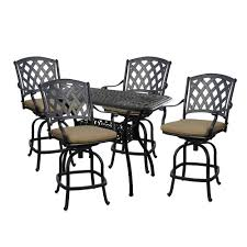 Counter Height Patio Dining Sets - darlee 201630 5pc 60cb ocean view 5 piece counter height patio