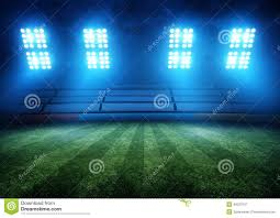 Arena Lights Football Stadium Lights Stock Photo Image 40027047