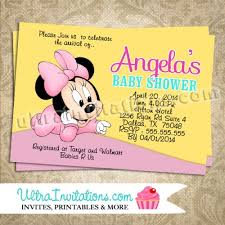 minnie mouse baby shower invitations minnie mouse invites baby shower diy digital or prints