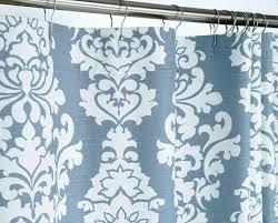 Blue Damask Shower Curtain Damask Shower Curtain Design Bathroom Ideas