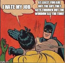 Thrown Out Window Meme - batman gives robin a lesson imgflip