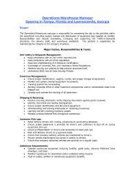 resume objectives for warehouse resume objective warehouse work