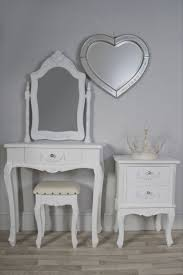 Off White Antique Bedroom Furniture Vintage Curved Off White Wooden Dressing Table And Three Fold