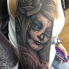 day of the dead tattoo sleeve by craig holmes iron u2026 flickr