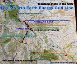 Map Of Montana by Earth Energy Grid Galacticfacets Julie Ryder