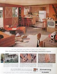home decor ads 1959 armstrong floor ad 1950s retro kitchen design family room