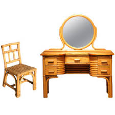 child s dressing table and chair child s rattan and mahogany vanity with matching chair furniture