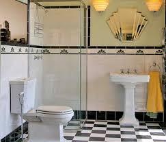 1930s bathroom design detaljerna som gör ett svart vitt déco badrum deco