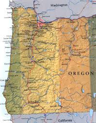 Highway Map Of Oregon by Map Of Western Oregon Usa