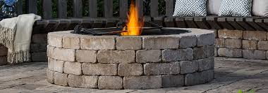 Firepit Stones Chion Brick Outdoor Living Milwaukee Brick And Pavers