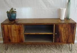 Modern Furniture Tv Stand Rustic Reclaimed Mid Century Inspired Entertainment Center Tv