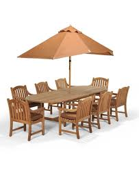 bristol outdoor teak 9 pc dining set 87