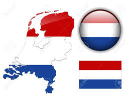 Holland Map Holland Netherlands Flag Map And Glossy Button Royalty Free