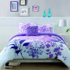 fascinating bright black and purple floral bedding set between